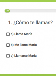 Example of our Spanish level test