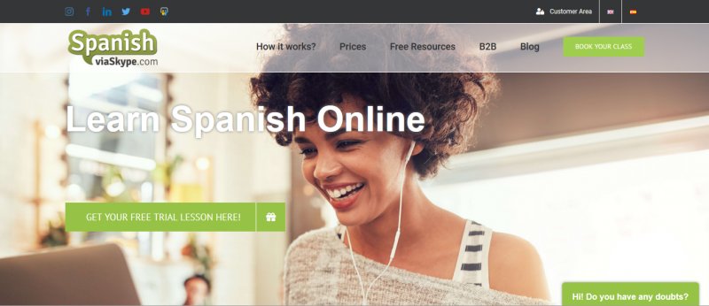 Spanishviaskype's new site