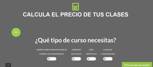 Calculadora gratuita de la nueva web de Spanishviaskype