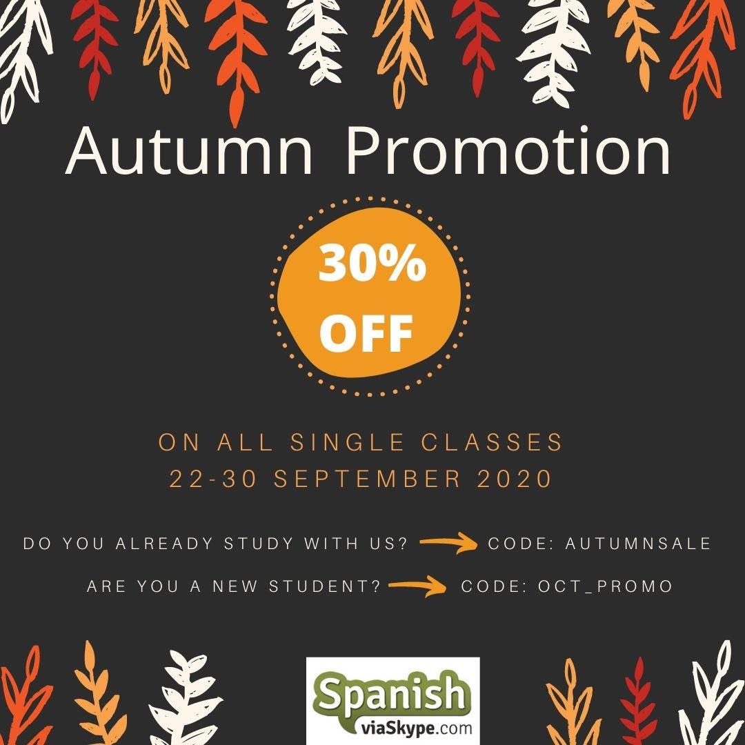 Autumn Promotion 2020