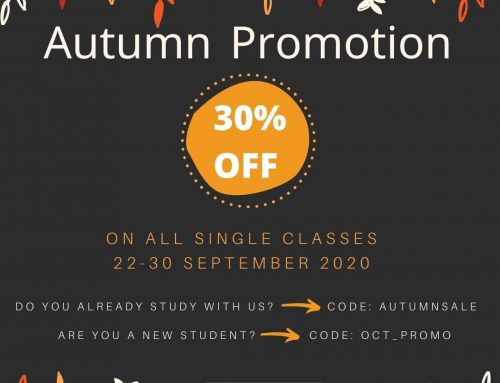 La promoción de otoño 2020: 30% de descuento