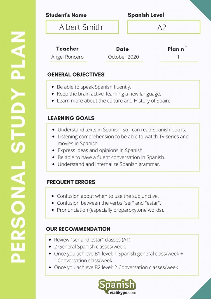 Spanishviaskype Personal Study Program