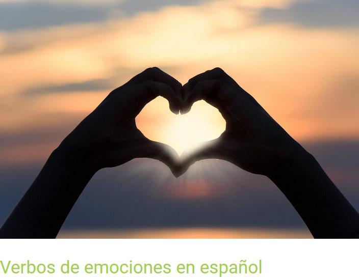 Artículo sobre verbos de emociones en español