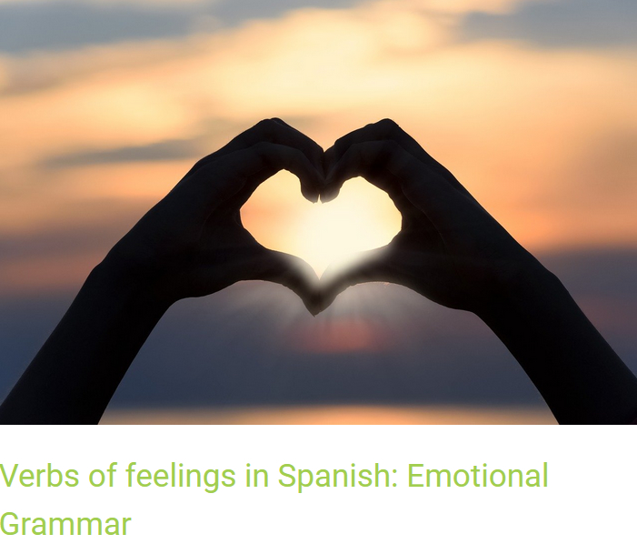 Article about the verbs of feelings in Spanish